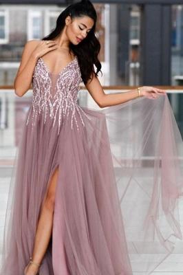 ZY019 Evening Dresses Long V Neck Prom Dresses Evening Wear Cheap_1