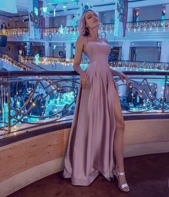 ZY020 Simple Evening Dress Long Pink Evening Wear_4