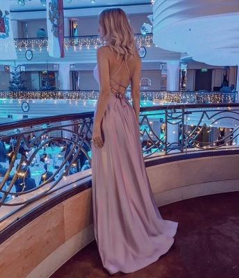 ZY020 Simple Evening Dress Long Pink Evening Wear_2