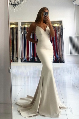 ZY028 Evening Dress Long Simple Evening Wear Prom Dresses Online_1