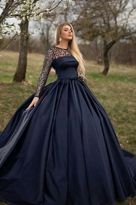 ZY068 Princess Evening Dresses With Sleeves Buy Evening Wear Online_1