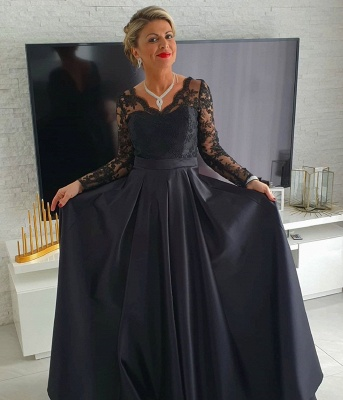 ZY011 Black Mother Of The Bride Dress Cheap Mother Of The Bride Dresses Long With Sleeve_2
