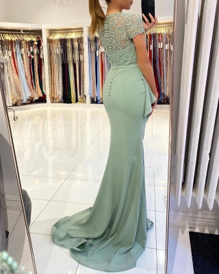 ZY021 Designer Evening Dresses With Lace Prom Dresses Cheap_3
