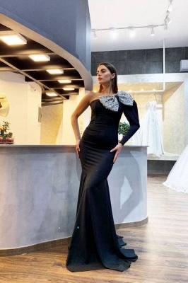 ZY014 Evening Dresses Long Black With Sleeves Elegant Prom Dresses_1