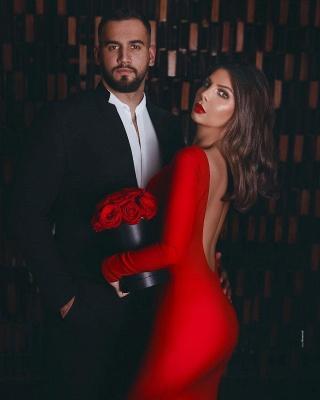 ZY012 Red Evening Dress Long Elegant Evening Dresses Cheap_3
