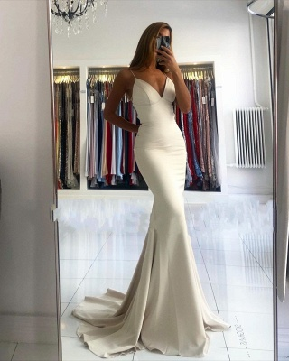 ZY028 Evening Dress Long Simple Evening Wear Prom Dresses Online_2