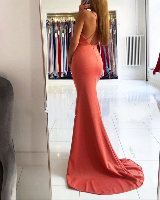 ZY030 Simple Evening Dresses Long Cheap Evening Wear Online_3