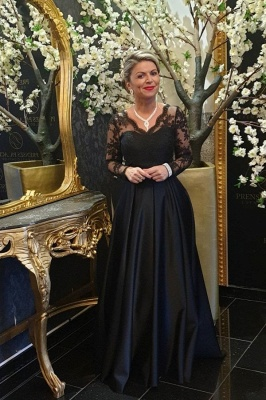 ZY011 Black Mother Of The Bride Dress Cheap Mother Of The Bride Dresses Long With Sleeve_1