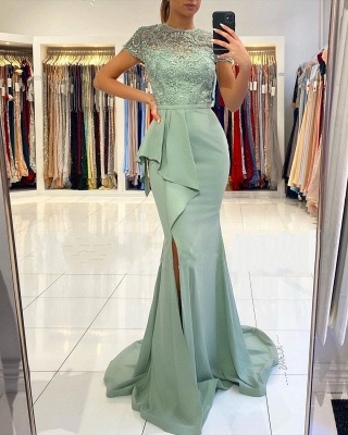 ZY021 Designer Evening Dresses With Lace Prom Dresses Cheap_2