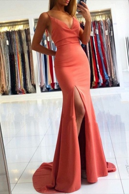 ZY030 Simple Evening Dresses Long Cheap Evening Wear Online_1