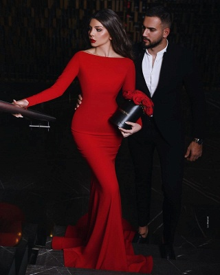 ZY012 Red Evening Dress Long Elegant Evening Dresses Cheap_2