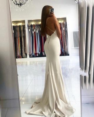 ZY028 Evening Dress Long Simple Evening Wear Prom Dresses Online_3