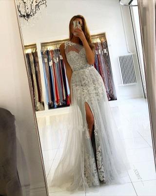 ZY131 Elegant Evening Dresses Long Lace Prom Dresses Glitter_5
