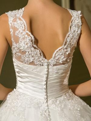 A-Line Wedding Dresses High Neck Ankle Length Lace Over Tulle Regular Straps Vintage Little White Dress Illusion Detail_8