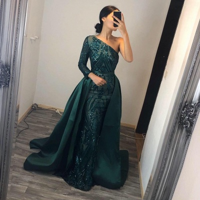 ZY104 Elegant Evening Dresses Long Green | Prom Dresses With Glitter_2