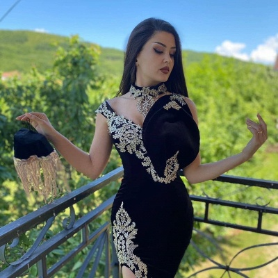 ZY096 Elegant Evening Dresses Long Black | Prom Dresses With Lace_5