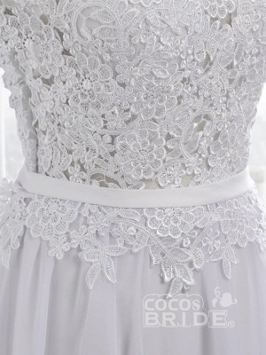 Cheap Jewel Backless Lace A-Line Wedding Dresses_9