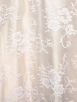 A-Line Wedding Dresses Bateau Neck Ankle Length Lace Over Satin 3\4 Length Sleeve Casual Boho See-Through Cute Illusion Sleeve_12