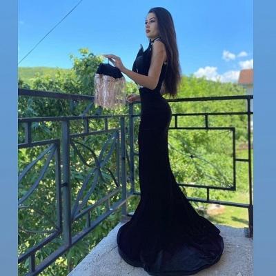 ZY096 Elegant Evening Dresses Long Black | Prom Dresses With Lace_3
