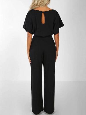 Women's Basic \ Street chic Black Blue Red Romper_2
