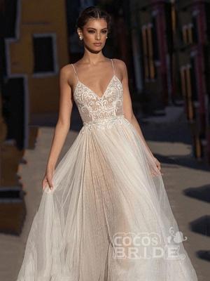 Beach Wedding Dress Boho Bohemian Lace Bridal Dress_3