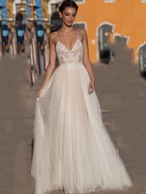 Beach Wedding Dress Boho Bohemian Lace Bridal Dress_1