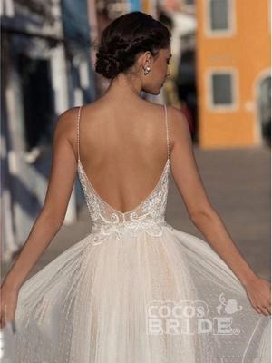 Beach Wedding Dress Boho Bohemian Lace Bridal Dress_2