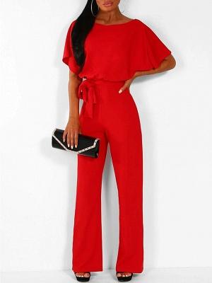 Women's Basic \ Street chic Black Blue Red Romper_5