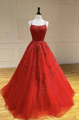 ZY107 Beautiful Evening Dresses Long Red | Evening Wear With Lace Online_4