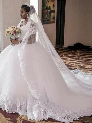 A-Line Wedding Dresses V Neck Watteau Train Organza Sleeveless Sexy Wedding Dress in Color_1