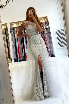 ZY131 Elegant Evening Dresses Long Lace Prom Dresses Glitter_1