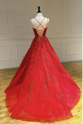 ZY107 Beautiful Evening Dresses Long Red | Evening Wear With Lace Online_3