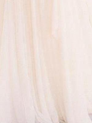 A-Line Wedding Dresses V Neck Sweep \ Brush Train Chiffon Lace Taffeta Cap Sleeve Country Plus Size_4