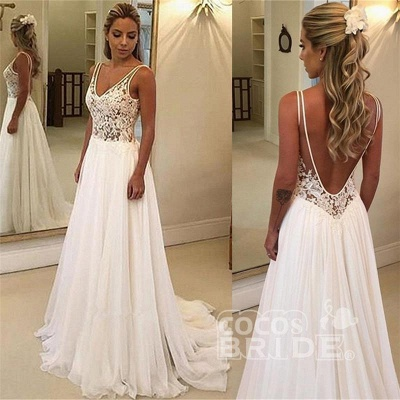 Charming V-Neck Sleeveless Appliques A-Line Floor-Length Prom Dresses_3