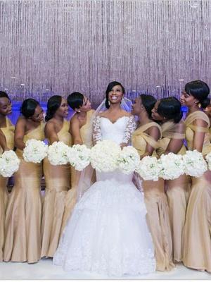Mermaid \ Trumpet Wedding Dresses Scoop Neck Court Train Organza Long Sleeve Sexy Wedding Dress in Color_3