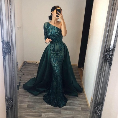 ZY104 Elegant Evening Dresses Long Green | Prom Dresses With Glitter_3