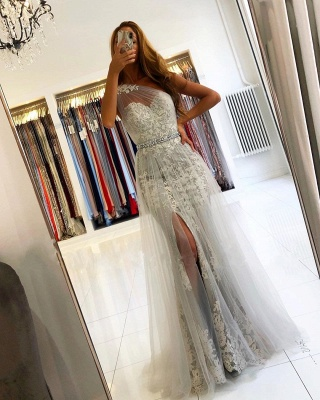 ZY131 Elegant Evening Dresses Long Lace Prom Dresses Glitter_3