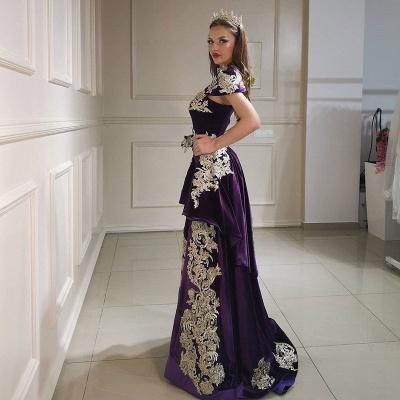 ZY097 Purple Evening Dresses Long Cheap   Velvet Prom Dresses Online_4