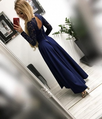 ZY135 Burgundy Prom Dresses Festive Dresses With Sleeves_3