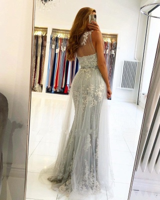 ZY131 Elegant Evening Dresses Long Lace Prom Dresses Glitter_2