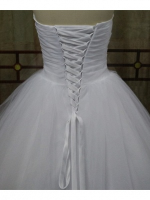 Ball Gown Wedding Dresses Strapless Sweep \ Brush Train Tulle Strapless Formal Plus Size_2