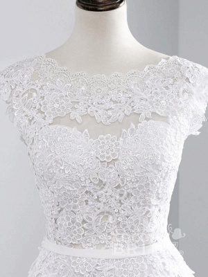 Cheap Jewel Backless Lace A-Line Wedding Dresses_7