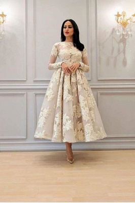 ZY110 Elegant Cocktail Dresses Short White Evening Dresses With Sleeves_1
