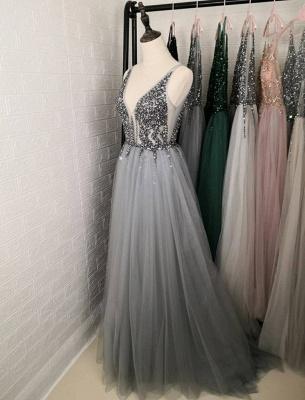 ZY190 Evening Dresses Long V Neckline Evening Wear Cheap Online_4