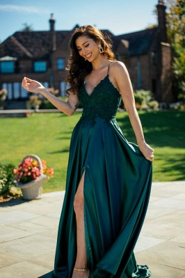 ZY215 Simple Evening Dresses Green Prom Dresses Long Cheap_1