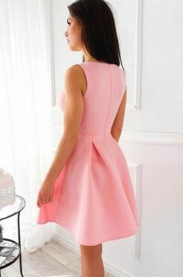 ZY202 Simple Cocktail Dresses Party Dresses Evening Dress Short Pink_3