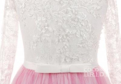 Scoop Neck Long Sleeves Ball Gown Flower Girls Dress_5