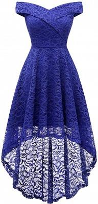 Vintage Floral Lace Off Shoulder Hi-Lo Formal Swing Dress_4