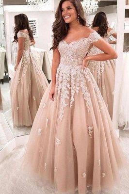 ZY224 Elegant Evening Dresses With Lace Prom Dresses Evening Wear_1