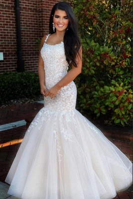 ZY225 Elegant Evening Dress Long White Prom Dresses With Lace_2